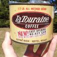 Vintage 1960's La Touraine Coffee (Half Lb) Tin